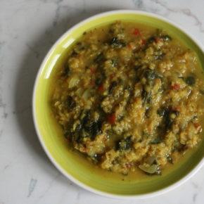 linte cu spanac și orez