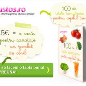 100 de rețete sănătoase pentru copilul tău – un eBook culinar și caritabil