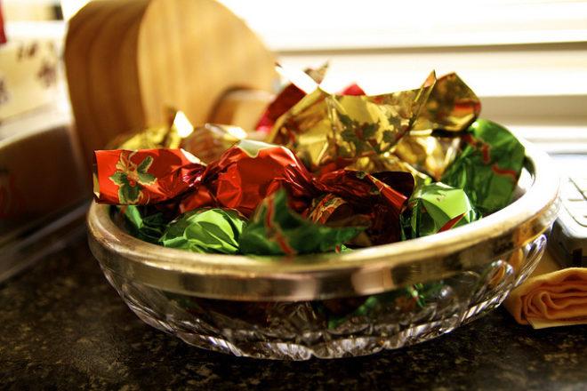 bomboane de pus în bradul de Crăciun
