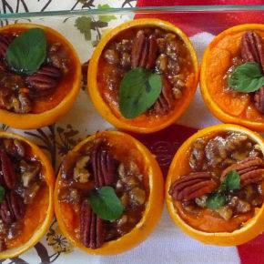 cartofi dulci în portocală