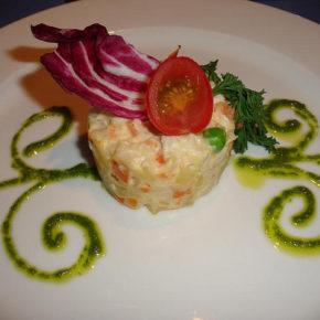 salată boeuf (sau rusească) cu pește