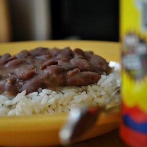 Mâncare de fasole cu orez