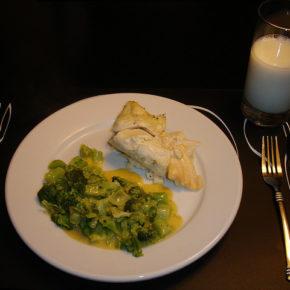 Broccoli cu sos alb