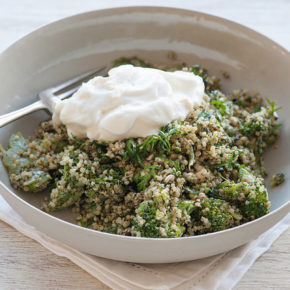 Quinoa cu broccoli