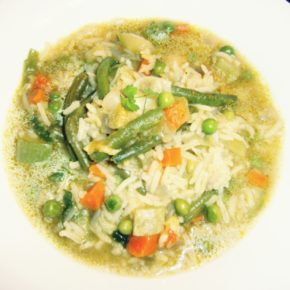 Supă de orez cu legume
