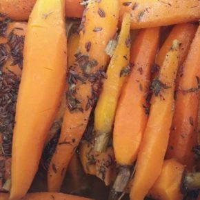 Morcovi cu chimen la cuptor