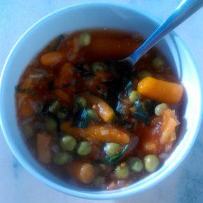 mazăre cu baby morcov