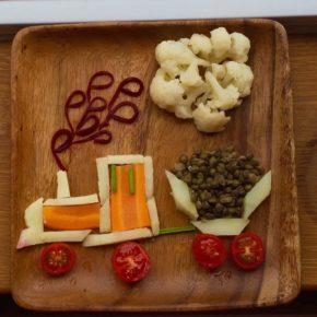 Trenuleț cu legume